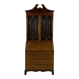 19th Century Edwardian Period Secretary Desk For Sale