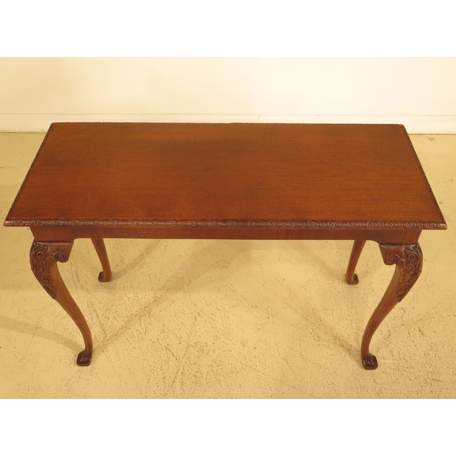 Wellington Hall Georgian Style Carved Mahogany Console Table - Image 6 of 11