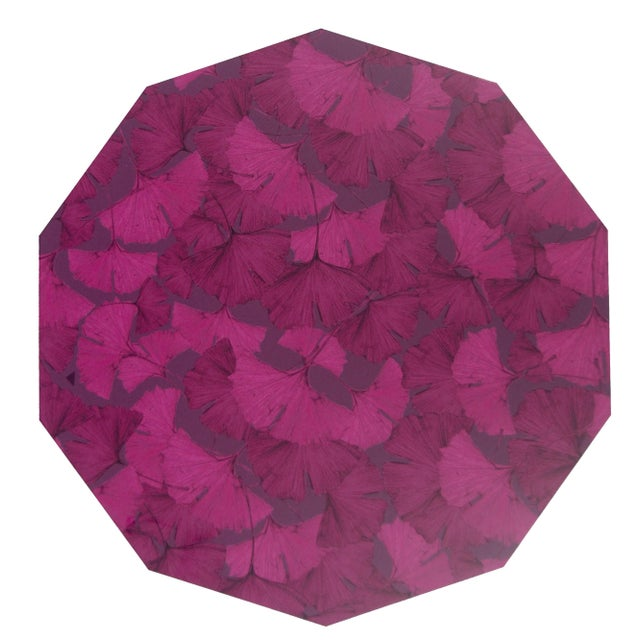 Contemporary Ginko Placemat in Purple For Sale - Image 3 of 3