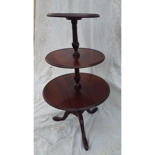 Hickory Chair Co. 3 tiered mahogany dumbwaiter/butler table stand Brandon Plantation This beautiful piece is made by the...