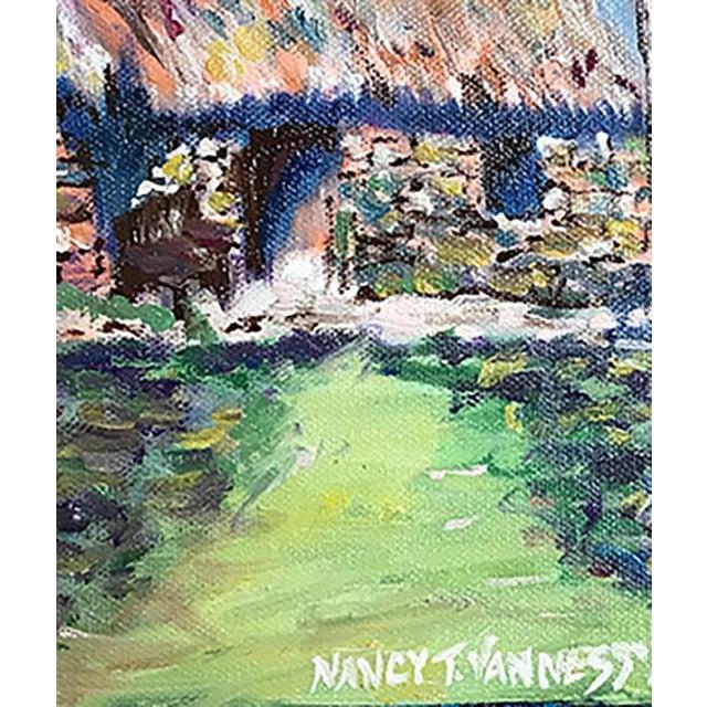 Farmhouse Nancy T. Van Ness Irish Home Original Oil Painting For Sale - Image 3 of 7