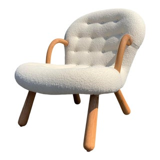 """Philip Arctander Style """"Clam"""" Chair For Sale"""