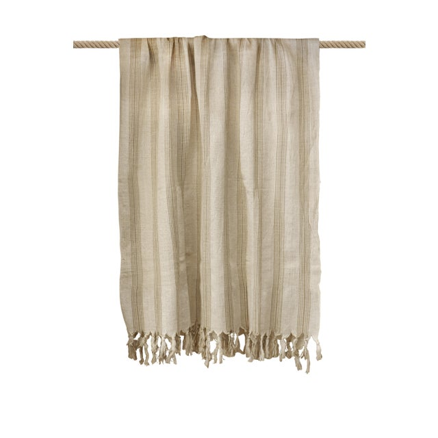 Turkish Hand Made Towel With Natural/Organic Cotton and Fast Drying,37x73 Inches For Sale - Image 9 of 11
