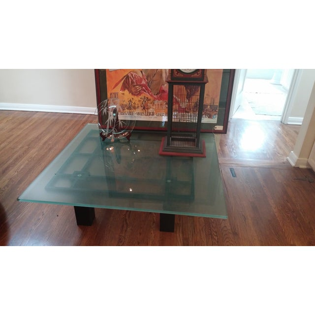 New Italian Square Glass Top Coffee Table - Image 6 of 9