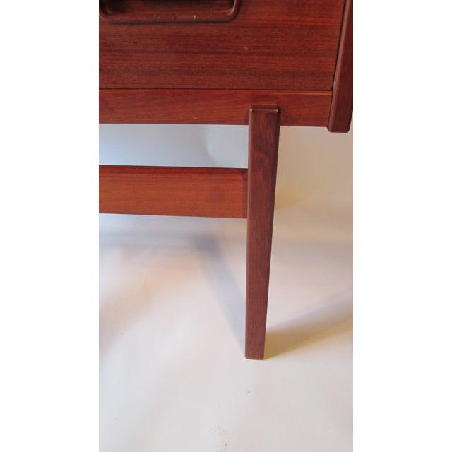 1960s Danish Modern Drop Front Desk For Sale - Image 9 of 13