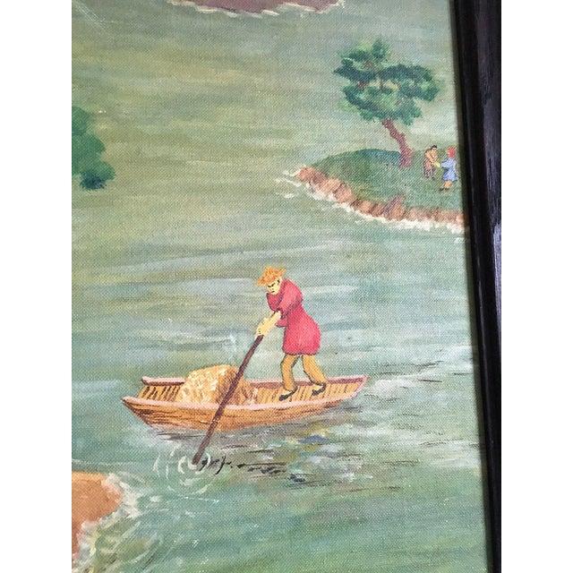 Chinese Fisherman Landscape - Image 3 of 7