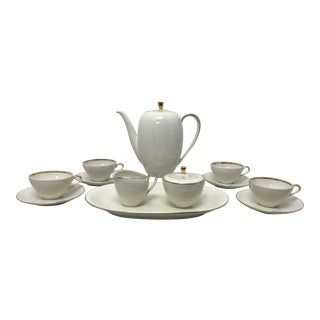 1930s Bavarian Porcelain Tea Service - Set of 14 For Sale