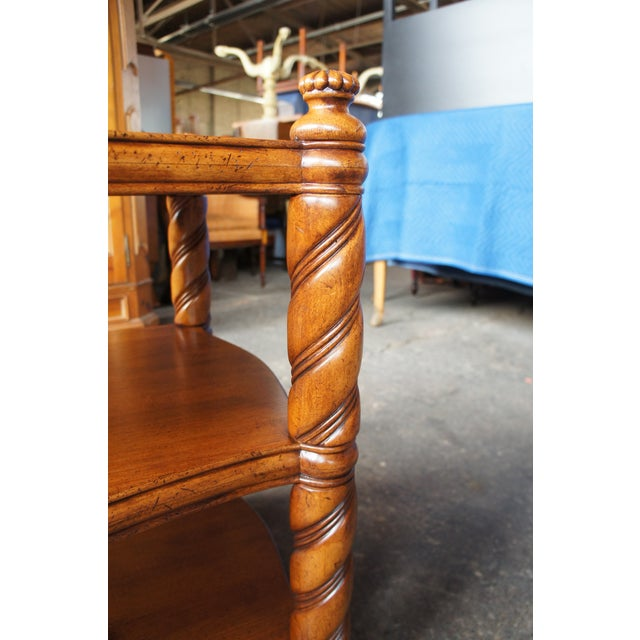 Early 21st Century Traditional Thomasville British Gentry 3 Tier Side Table For Sale - Image 5 of 13