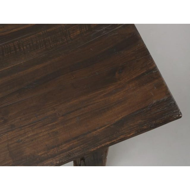 1900 - 1909 Antique French Rustic Industrial Work Table For Sale - Image 5 of 11