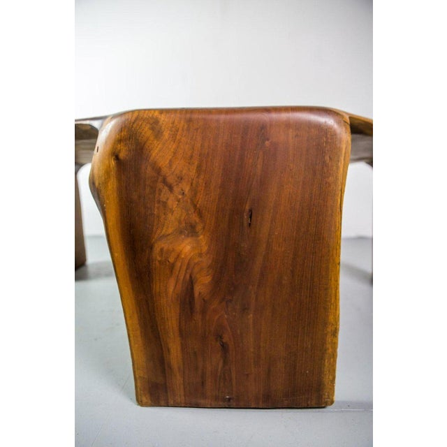 1970s One of a Kind James Monroe Camp Studio Coffee Table in Walnut Usa 1975 For Sale - Image 5 of 9