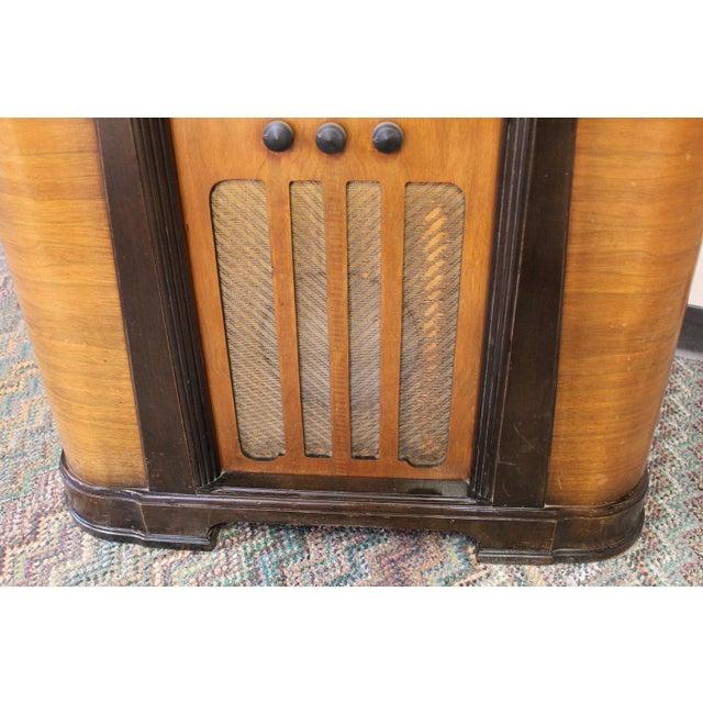 Brown Philco Bar & Radio Cabinet For Sale - Image 8 of 8