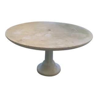 Antique Style Stone Garden Dining Table For Sale
