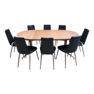 Daystrom Mid Century Modern Table and 8 Chairs For Sale