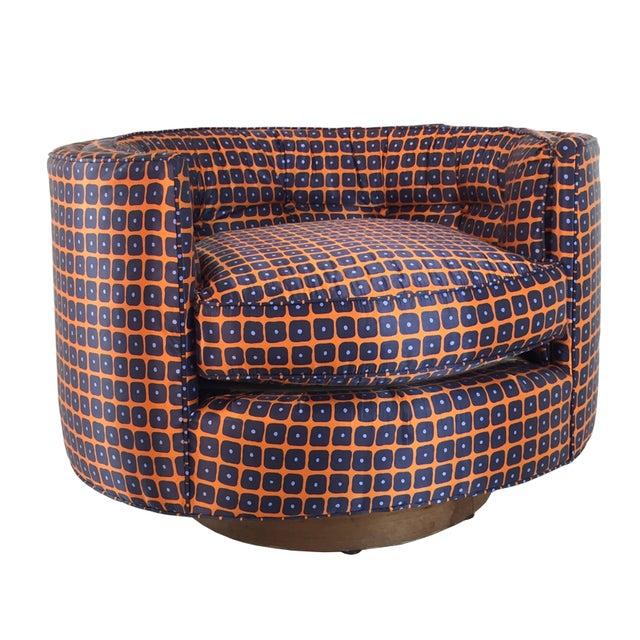 Milo Baughman Style Swivel Chair - Image 1 of 4
