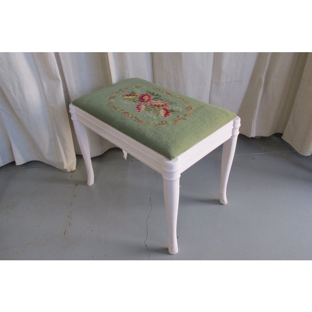 Green & Pink Tapestry Bench - Image 5 of 5
