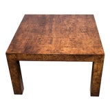 Image of 1970s Hollywood Regency Burl Wood Coffee Table For Sale