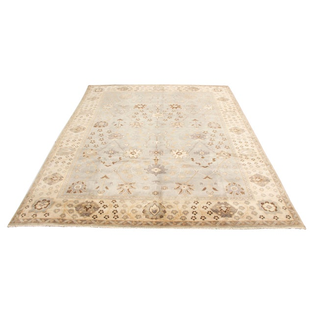 Up for sale is a vintage oushak rug. This rug is cleaned and washed, no tear, ready to use.
