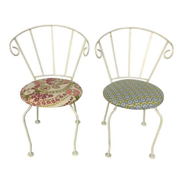 Mid-Century Painted Cast Iron Chairs - A Pair - Image 1 of 9