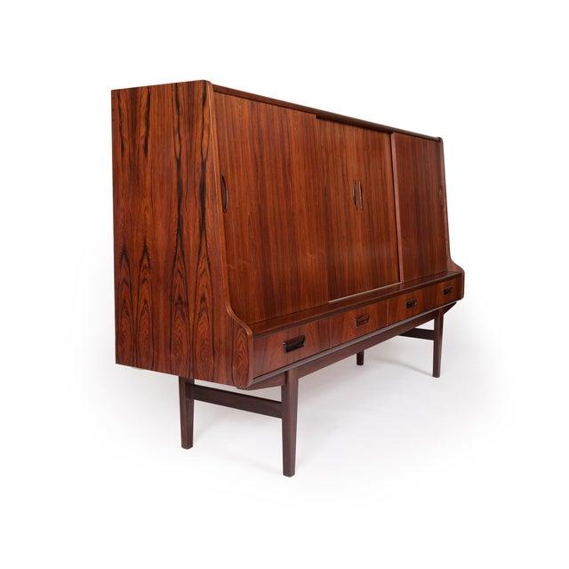 Danish Modern Danish Mid-Century Brazilian Rosewood Credenza/Sideboard For Sale - Image 3 of 8