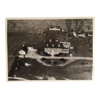 "1940 Vintage Black & White Aerial Photograph ""Stone House"" by William Hazlett For Sale"