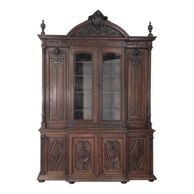 19th Century French Renaissance Grand Bookcase For Sale