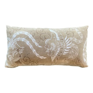 Japanese Phoenixes Katazone Lumbar Pillow For Sale