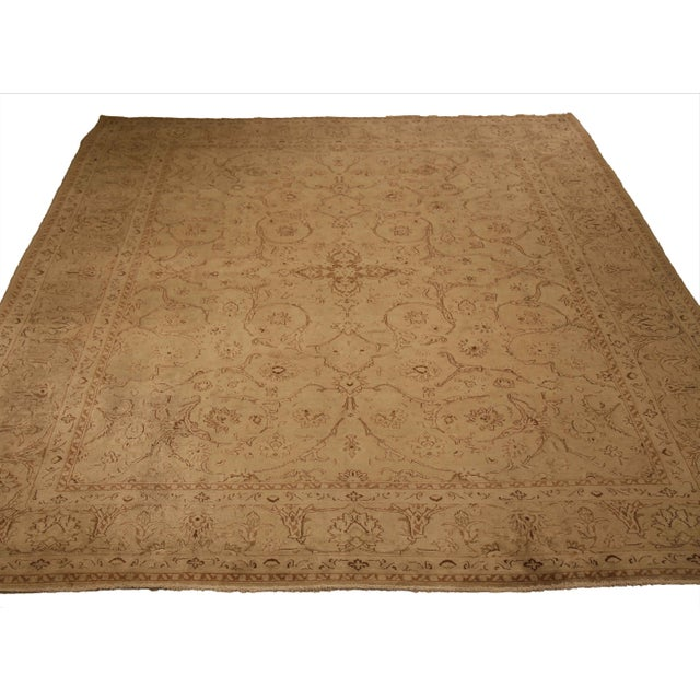 1960s Vintage Persian Kerman Floral Design Rug - 9′10″ × 12′6″ For Sale - Image 4 of 12