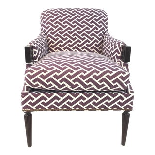 Modern Hickory Chair Purple and White Gregory Lounge Chair For Sale