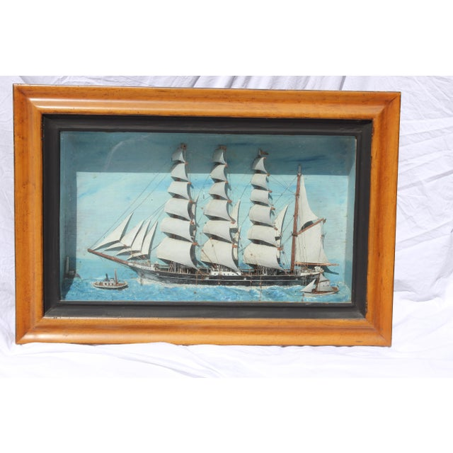 19th C. Antique American Sailing Ship Painting For Sale - Image 4 of 10