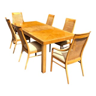 Vintage Preface by Drexel Heritage Pecan Dining Set - 7 Pieces For Sale