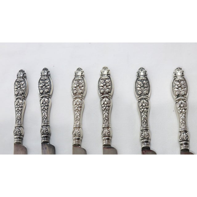 Traditional 19th Century Victorian Citrus Fruit Knives - Set of 6 For Sale - Image 3 of 9
