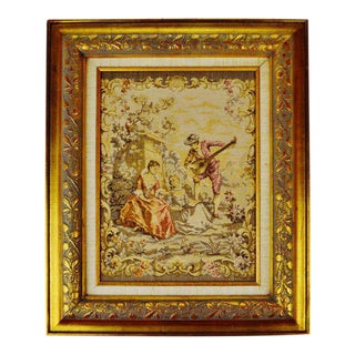 Early Framed French Tapestry For Sale