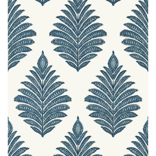 Palampore Leaf Wallpaper by Anna French - Price Per Roll For Sale