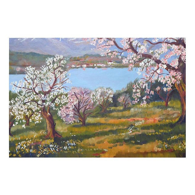 Impressionism Apple Trees in Bloom For Sale - Image 3 of 5