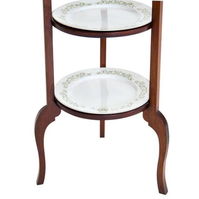 3-Tier Serving Stand W Brass Handle For Sale In Chicago - Image 6 of 11
