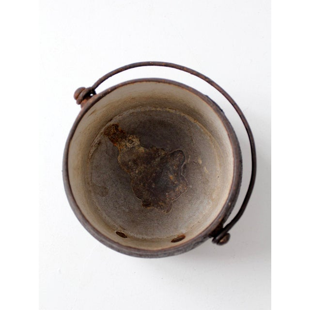 Black Antique Cast Iron Pot For Sale - Image 8 of 9