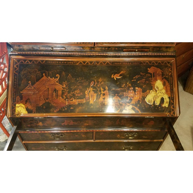 Queen Ann Chinoiserie Secretary Desk - Image 3 of 11