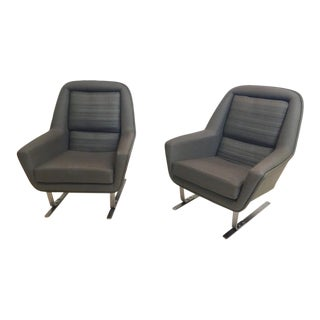 20th Century Bauhaus Modernist Cantilever Club Lounge Chair For Sale