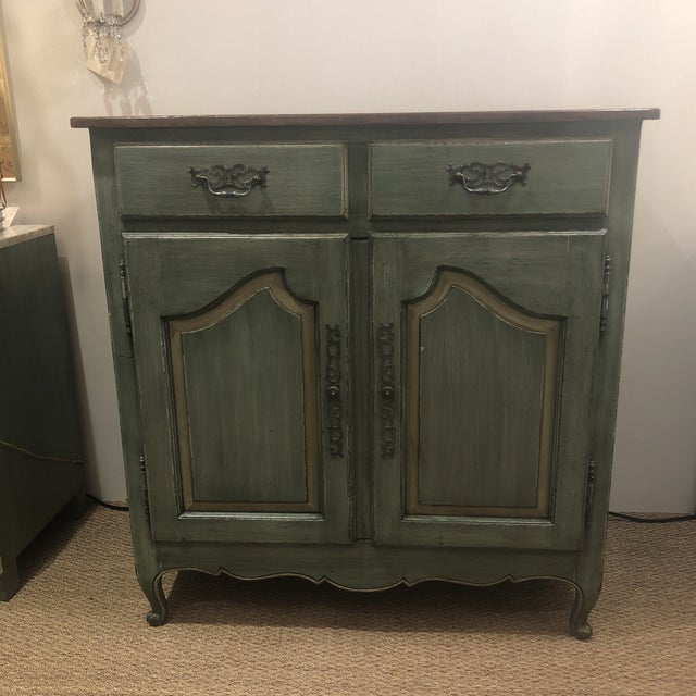 Green French Country Cupboard For Sale - Image 11 of 11