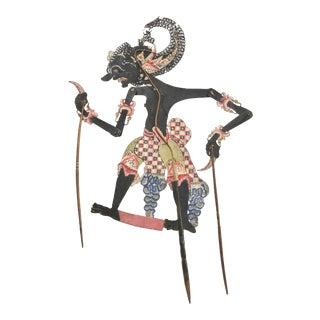 Shadow Puppet, Wayang Kulit, Dursasana For Sale