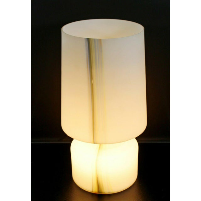 Mid-Century Modern Mid Century Modern Large White Murano Glass Table Lamp 1970s Italy For Sale - Image 3 of 10