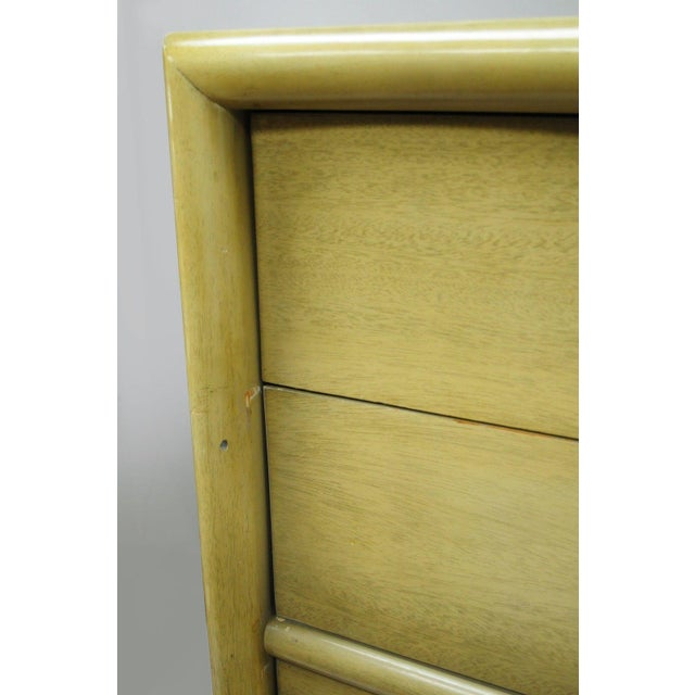 Vintage Tri-Bond Mid Century Modern Bone Dresser Chest Art Deco Gilbert Rohde Era For Sale - Image 5 of 11