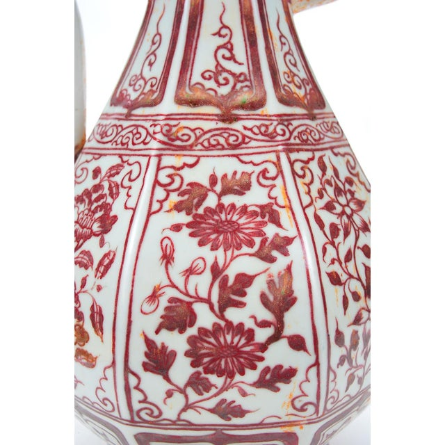"""Chinese """"Red & White"""" Porcelain Ewer - Image 2 of 8"""