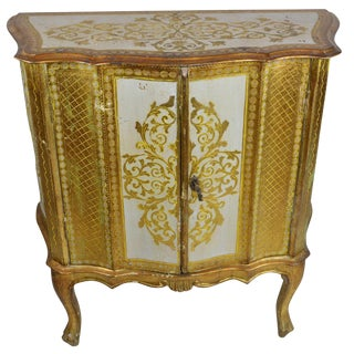 Antique Venetian Gold Dry Bar Cabinet For Sale