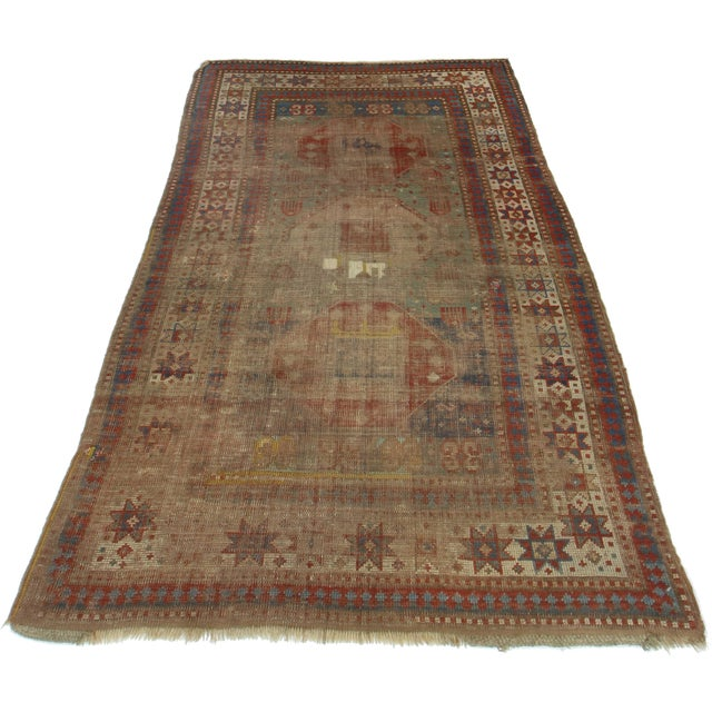 RugsinDallas Hand-Knotted Wool Russian Rug - 3′5″ × 5′5″ - Image 2 of 2