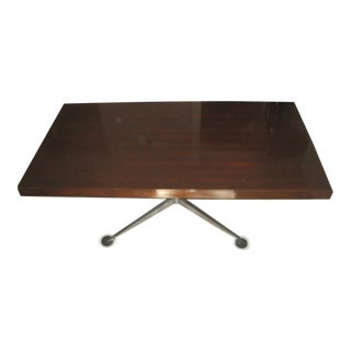 Florence Knoll Executive Walnut Partners Desk For Sale