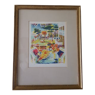 "Dimitrie Berea ""Seaside Cabana"" Lithograph Print For Sale"