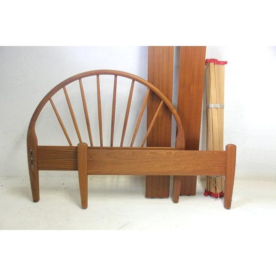Jespersen Danish Teak Peacock Back Twin Bedframe For Sale - Image 4 of 5