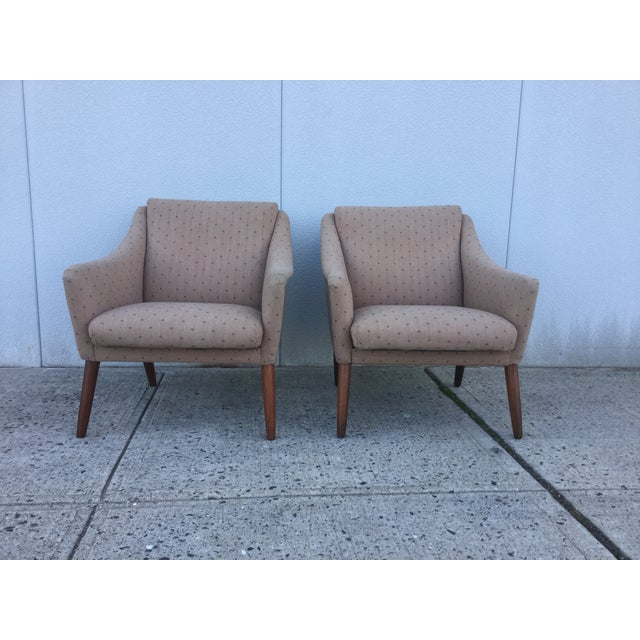 Vintage Danish Modern Lounge Chairs - A Pair - Image 2 of 11