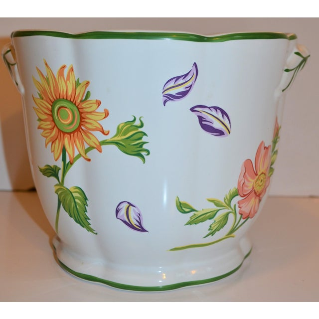 "Boho Chic Vintage Tiffany & Company ""Petals"" Cachepot For Sale - Image 3 of 13"